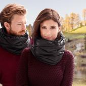 Очень теплый дутый снуд- шарф , внутри флис Tchibo Германия, размер универсальный