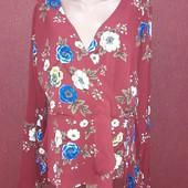 Крутая блузка на шнуровке на талии