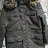 Отличная качественная куртка парка Хаки(светло - зеленый)