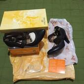 #155, Кожаная модель, необычные туфли! Красивый дизайн/фурнитура