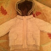 Очень теплая Кофта, куртка. внутри на утеплителе, размер 2-3 года 98 см. Signature Next.. сост. отл.