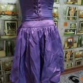 Вечернее каскадное платье с корсетом.Состояние отличное.Наш 42-44 р.