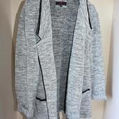 Серый теплый кардиган блейзер new look батал большой размер