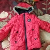 Теплая Осенняя курточка на мальчика 18-24 мес.