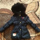 Теплая курточка для девочки 110