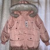 Зимняя куртка оверсайз с капюшоном,тренд 2021 размер XL