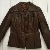 Коричневая кожаная куртка Италия Echtes Leder