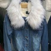 Джинсовая куртка 48-50 розмір