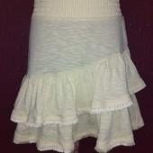 Игривая юбка с валанами для девочки цвет ярче указано 11-12 лет ориентир на замерв