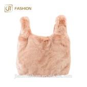Меховая сумка в стиле коллекции Simonetta Ravizza in Pink, копия Il Gufo, пыльная роза