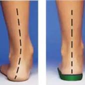 Полустельки в обувь ортопедическая под пятку (подпяточник) для увеличения роста на 2см