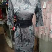 Платье с кожаным поясом Разм. M, L, XL