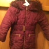 Куртка. еврозима, внутри флис, размер 7 лет 122 см, Matalan. сост. отличное