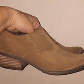 Туфли казаки р 39.5 натуральный замш.Распродажа