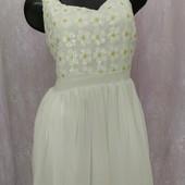 Платье из шифона с пайетками