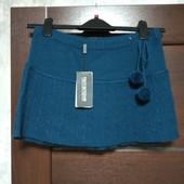 Фирменная новая тепленькая юбка для девочки на поб-40-44, талия стягивается шнурком р.М