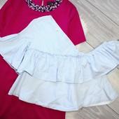 Качество! Супер стильная, натуральная рубашка от Zara, в новом состоянии