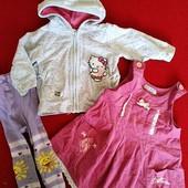красивый комплект одежды для малышки, кофта, сарафан как новый