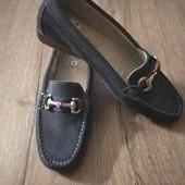 Туфли мокасины LOX испания.Натуральная замша