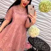 Элегантное и нарядное платье из красивого кружева ( в наличии ) 42-44