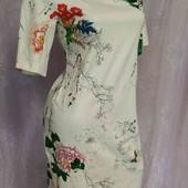 платье с цветами -котон