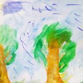 """Картина """"Красота"""" написана ребёнком"""