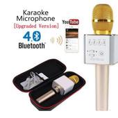 Микрофон bluetooth караоке беспроводной Q7+чехол.цвет случайный