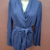 Класнючий пиджак с поясом нереально мягкий тонкий материал реал цвет фото 2
