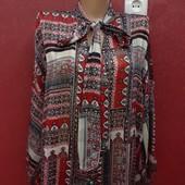 Офигенная блузка рубашка с бантом впереди