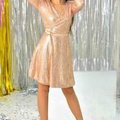 шикарное женское платье с пайетками.