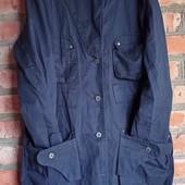 ❤️ Черная удлиненная коттоновая куртка S/M УП -10%