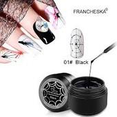 Паутинка для дизайна и декора ногтей. В лоте белая, золото, серебро или чёрная.