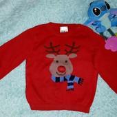 Классный,крутой свитер унисекс,на малыша 1-1,5 годика