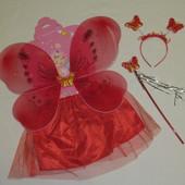 Детский набор феи крылья палочка обруч (без юбочки)