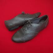 Туфли оксфорды Bootleg натур кожа 36 размер (широкая ножка)