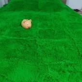 Фантастичний Фіолетовий та колір Молодої трави Плед Травка 220/240 в сумочці