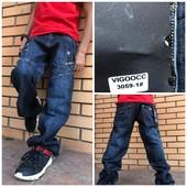 Vigoocc джинсы на мальчика синие осенние котоновые