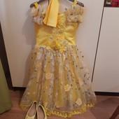 Платье на утренник 5-6лет рост 128