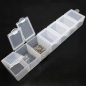 Контейнер для мелочей /таблеток15х2х3 см .7 ячеек