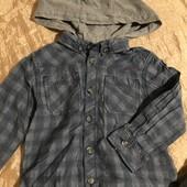 Стильний комплект з рубашки та джегінсів на 1,5-2 роки на зріст 86-92