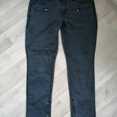 Бомбезные джинсы с вставками екокожи /AFF/XL!!!