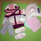 Новая одежда для новорожденной девочки 0-3 мес, 3-6 мес