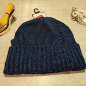 Германия!!! Демисезонная мужская шапка! Темно-синяя!