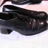 кожаные туфли синие 37р стельки 24 см Caprice Германия