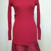 Новое нарядное трикотажное платье, размер 42-48, смотрите замеры