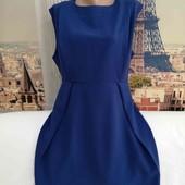 Платье atmosphere синее повседневное классическое