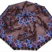 Женский Зонт полный автомат (анти ветер) 3 сложения 9 спиц с пружиной разные цвета