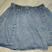 Джинсовая лёгкая юбочка на девочку подростка