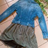 Джинсовая курточка ,Италия +мягкое трикотажное платье √√ одним лотом ,без нюансов .