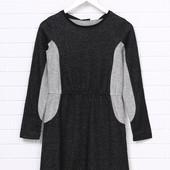 Темно-серое повседневное платье клеш Pepperts меланжевое, р.170-176